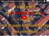 Il tè del venerdì del 22 dicembre alle 18 con gli auguri dell'Unione Operaia e dei commercianti di Colonnata