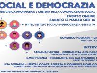 Social e democrazia  Sesto solidale e pacifista Sabato 13 marzo 2021
