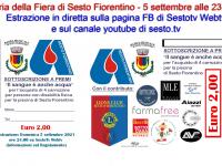 Lotteria della Fiera di Sesto Fiorentino. Domenica 5 settembre alle 23.30